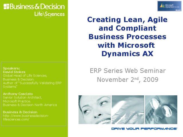 Creating Lean, Agile & Compliant Processes with MS Dynamics AX