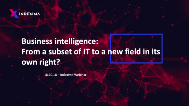 BUSINESS INTELLIGENCE: A NEW FIELD IN ITS OWN RIGHT?