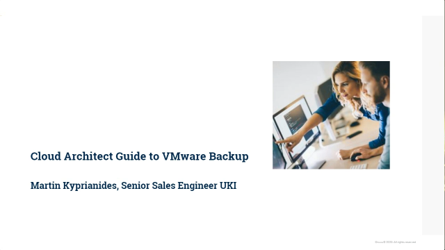 Cloud architect guide to VMware backup