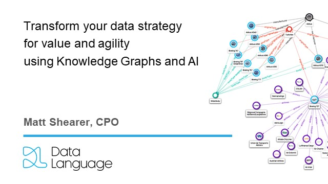 Transform your data strategy for value and agility using Knowledge Graphs and AI