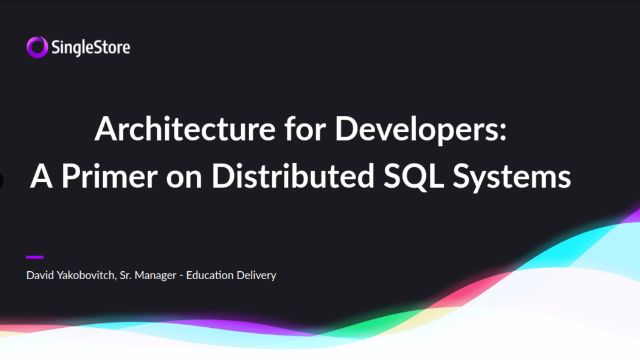 Distributed SQL & Cloud Databases: Scaling Fast Analytics & Intelligent Apps