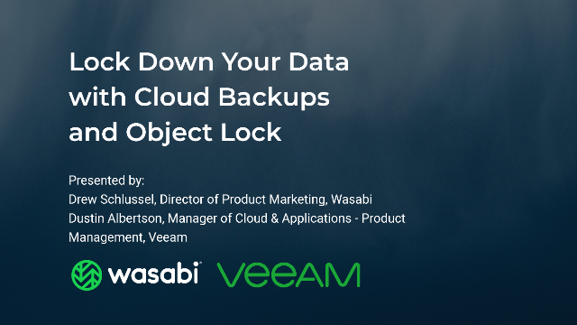Lock Down Your Data with Cloud Backups and Object Lock