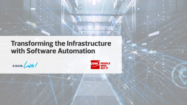 Transforming the Infrastructure with Software Automation
