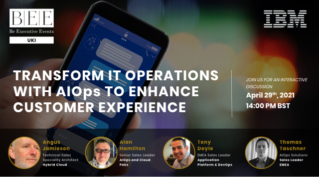 Transform IT Operations with AIOps to enhance customer experience