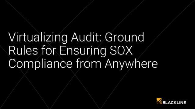 Virtualizing Audit: Ground Rules for Ensuring SOX Compliance From Anywhere