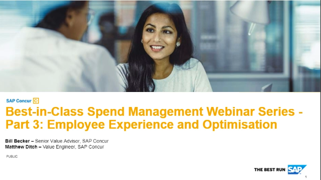 Best-in-Class Spend Management Series-Part 3:Employee Experience & Optimisation