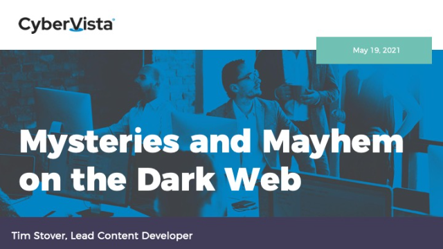 Mysteries and Mayhem on the Dark Web
