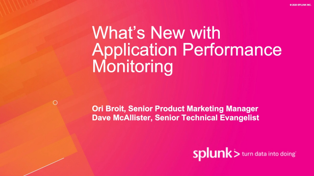 What's New with Application Performance Monitoring