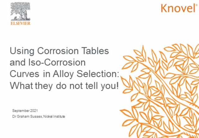 Using Corrosion Tables and Iso-Corrosion Curves to Select Alloy