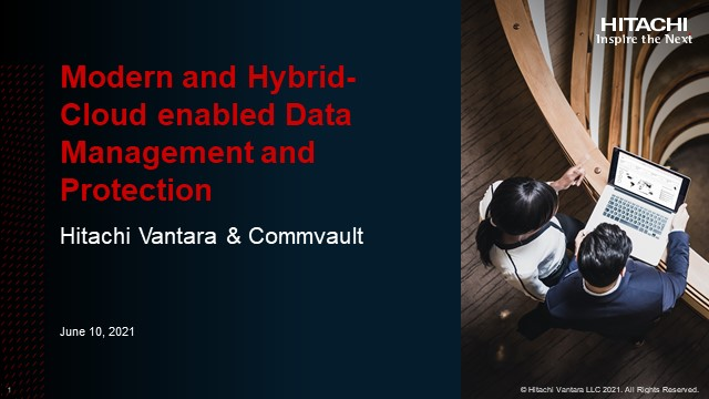 Modern and Hybrid-Cloud enabled Data Management and Protection