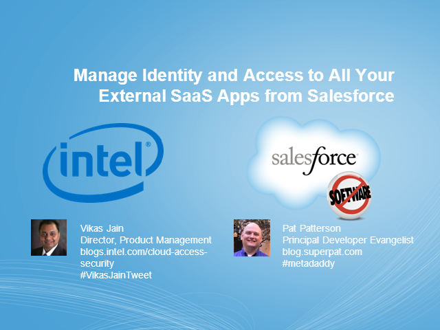 Manage Identity & Access to All Your External SaaS Apps from Salesforce