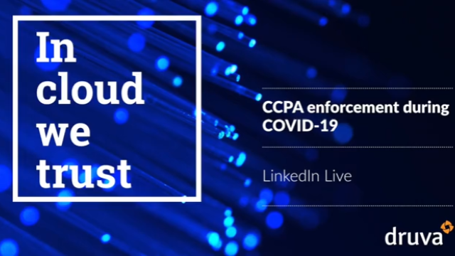 CCPA enforcement during COVID-19