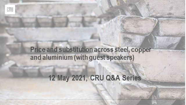 Price and substitution across steel, copper and aluminium (with guest speakers)