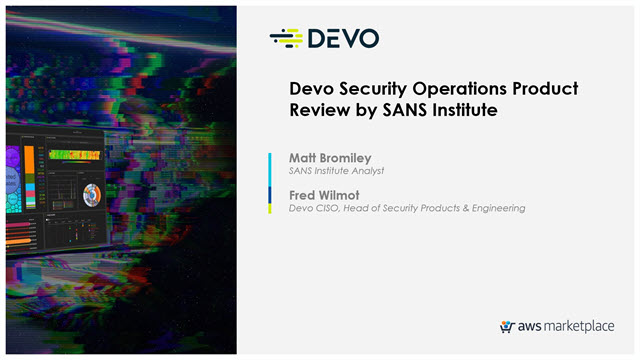 Devo Security Operations Product Review by SANS Institute