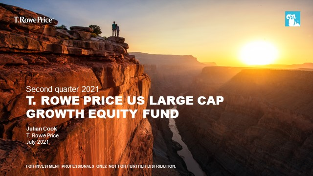 Quarterly update - T. Rowe Price US Large Cap Growth Equity Fund