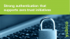 Strong authentication that supports zero trust initiatives