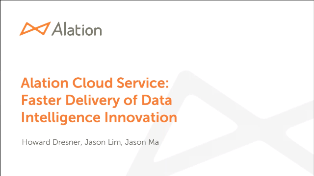 Alation Cloud Service - Faster Delivery of Data Intelligence Innovation