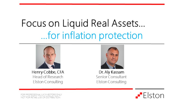 Focus on Liquid Real Assets for inflation protection