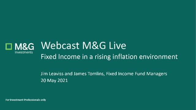 M&G Webcast: Fixed income in a rising inflation environment