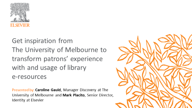 Hear how The University of Melbourne has transformed its patrons' experience