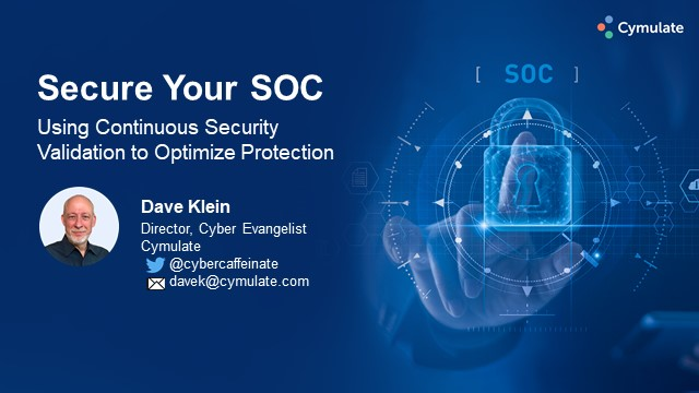 Pull your SOC up with continuous security validation and optimization