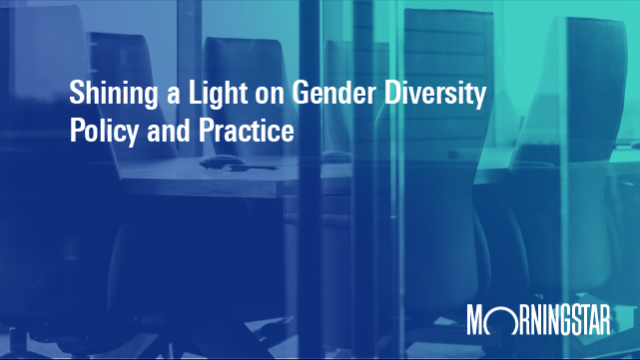 Shining a Light on Gender Diversity Policy and Practice