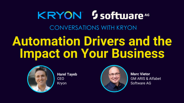 Conversations with Kryon: Automation Drivers and the Impact on Your Business
