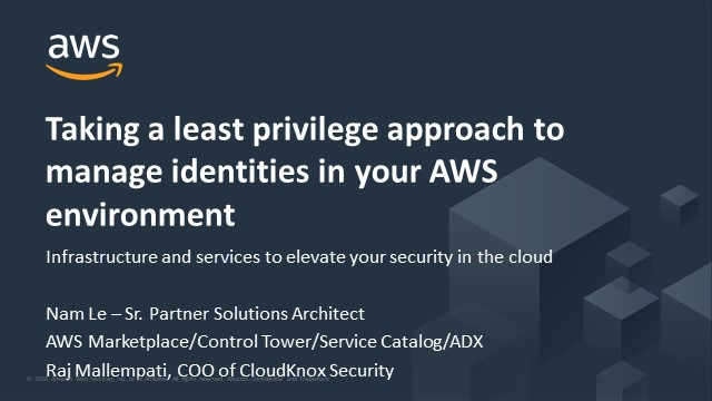 Taking a least privilege approach to manage identities in your AWS environment