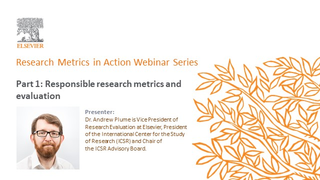 Research metrics in action part 1: Responsible research metrics and evaluation