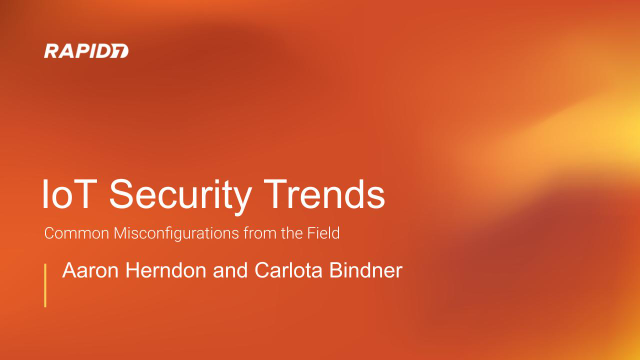 IoT Security Trends: Common IoT Misconfigurations from the Field