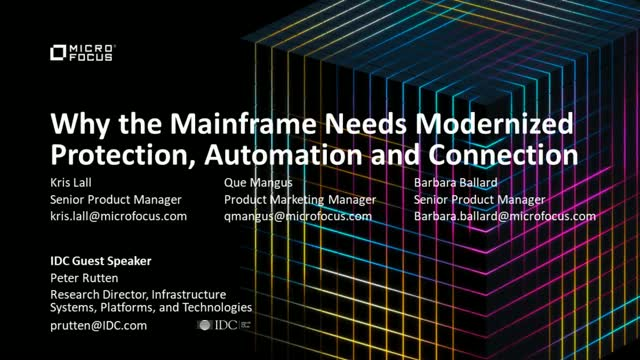 Why the Mainframe Needs Modernized Protection and Connection