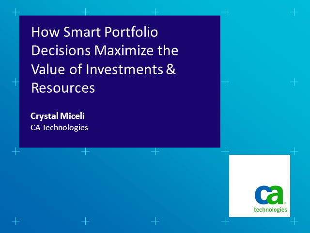 How Smart Portfolio Decisions Maximize the Value of Investments & Resources