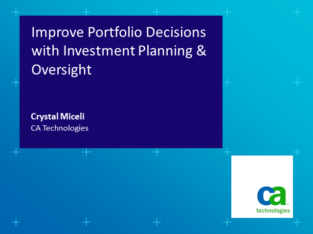 Improving Portfolio Decisions with Investment Planning & Oversight
