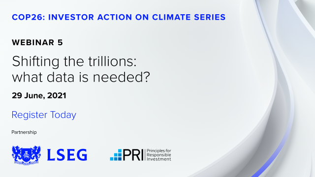 Webinar 5 - Shifting the trillions: what data is needed?