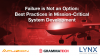 Failure is Not an Option: Best Practices in Mission-Critical System Development