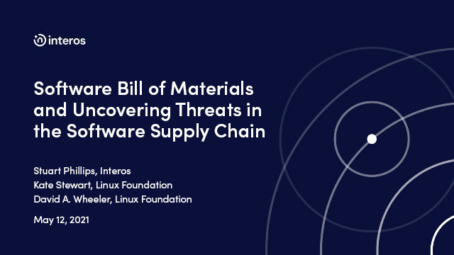 Software Bill of Materials and uncovering threats in the software supply chain
