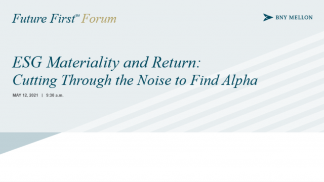 ESG Materiality and Return: Cutting Through the Noise to Find Alpha