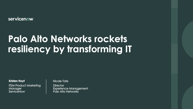 Palo Alto Networks rockets resiliency by transforming IT
