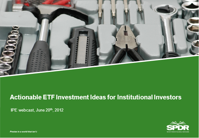 Actionable ETF Investment Ideas for Institutional Investors