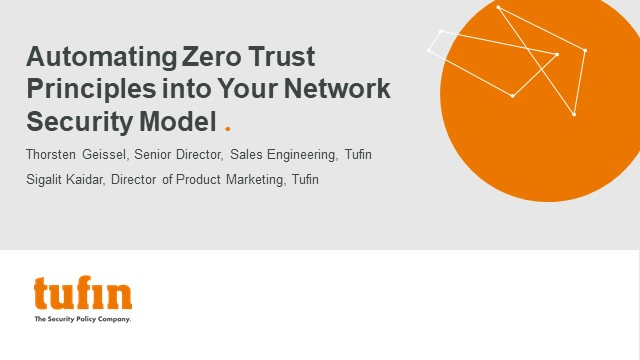 Automating Zero Trust Principles into Your Network Security Model