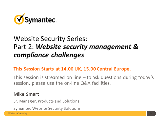 Website security management & compliance challenges