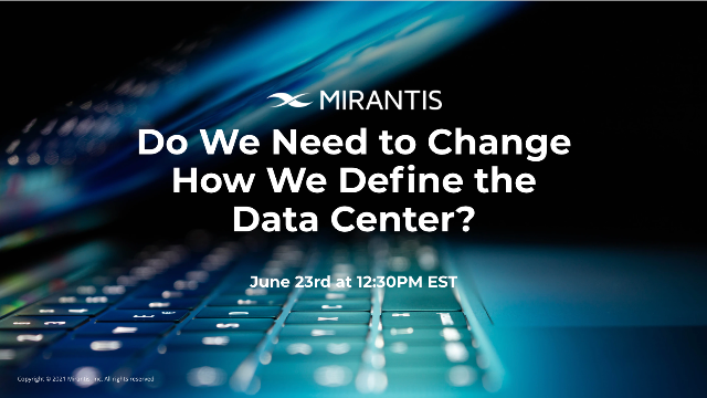 Do we need to change how we define the datacenter?