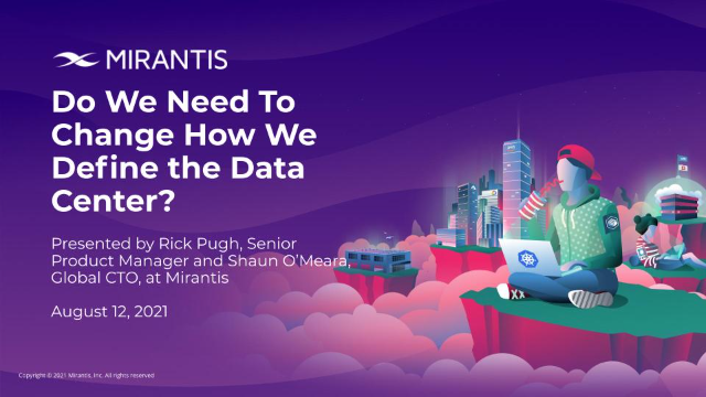 Do We Need to Change How We Define the Data Center?