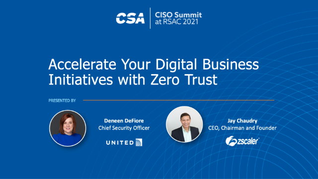 Accelerate Your Digital Business Initiatives with Zero Trust
