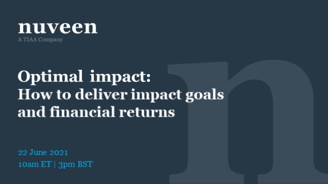 Optimal impact: How to deliver impact goals and financial returns