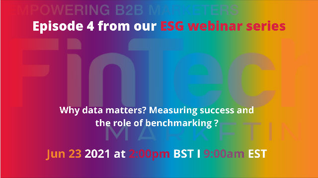 """""""Why data matters? Measuring success and the role of benchmarking ?"""""""