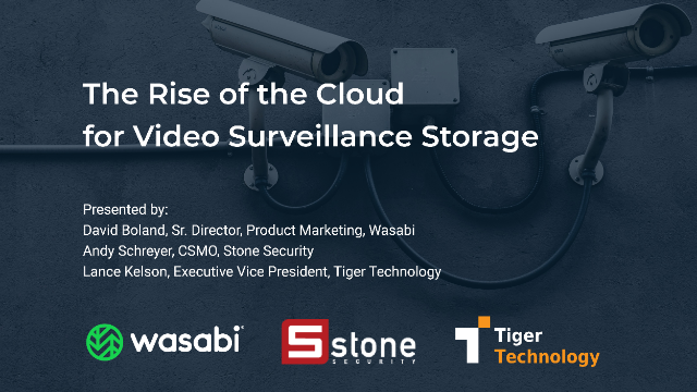 The Rise of the Cloud for Video Surveillance Storage