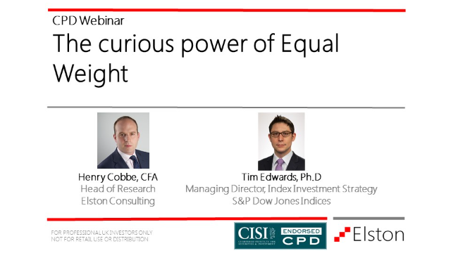 CPD: The curious power of Equal Weight