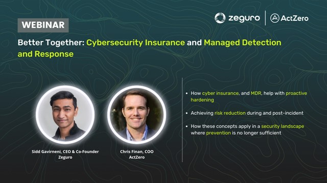 Better Together: Cybersecurity Insurance and Managed Detection and Response