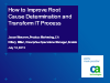 How to Improve Root Cause Determination and Transform IT Process
